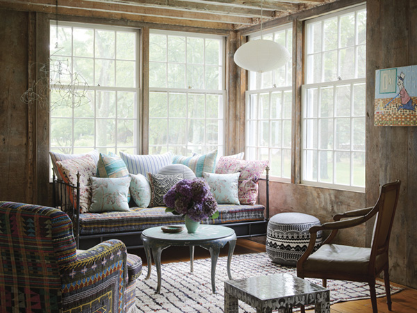 beautiful-layered-textiles-in-a-moody-living-room-nook-refined-boheme-house-tour-via-coco-kelley