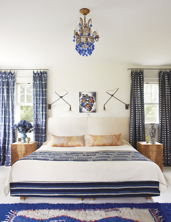 fresh-blue-and-whites-in-this-eclectic-layered-bedroom-refined-boheme-house-tour-via-coco-kelley