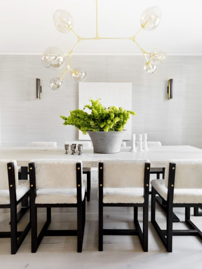 modern-black-and-white-dining-room-with-shearling-chairs-house-tour-via-coco-kelley-753x1000
